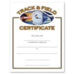 Track And Field Fill in the Blank Certificates