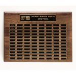 Walnut Perpetual Plaques Fire and Safety Awards