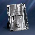Silver Reflections Glass Plaques
