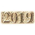 2019 Year Date Lapel Pins