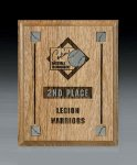 Oak Panel Recognition Plaques