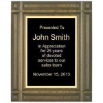 Deep Groove Solid Walnut Plaque Walnut Plaques