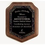 Marble Magic Shield Plaque Walnut Plaques